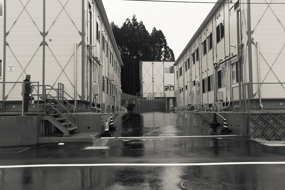 Decontamination Workers housing  Naraha Japan
