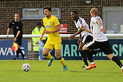 AFC Wimbledon midfielder Chris Whelpdale (11) during the Pre-Season Friendly match between Dover Athletic and AFC Wimbledon at Crabble Athletic Ground, Dover, United Kingdom on 12 July 2016. Photo by Stuart Butcher.