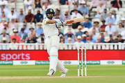 Virat Kohli (captain) of India goes on the attack during second day of the Specsavers International Test Match 2018 match between England and India at Edgbaston, Birmingham, United Kingdom on 2 August 2018. Picture by Graham Hunt.