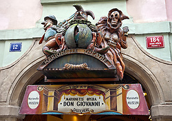 Prague, Czech Republic:  The Don Giovanni opera at the famous Marionette Theatre is a popular attraction in Old Town.
