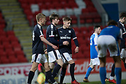 Craig Wighton of Dundee is congratulated after scoring by Jack Lambert - St Johnstone v Dundee in the SPFL development league at McDiarmid Park, Perth<br /> <br />  - &copy; David Young - www.davidyoungphoto.co.uk - email: davidyoungphoto@gmail.com