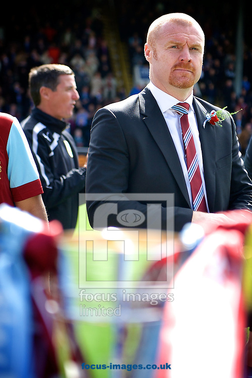 Burnley manager Sean Dyche with the runners up trophy in the foreground following the Sky Bet Championship match at Turf Moor, Burnley<br /> Picture by Ian Wadkins/Focus Images Ltd +44 7877 568959<br /> 26/04/2014