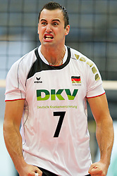 11.09.2011, O2 Arena, Prag, CZE, Europameisterschaft Volleyball Maenner, Vorrunde D, Deutschland (GER) vs Slowakei (SVK), im Bild Georg Grozer (#7 GER / Rzeszow POL) // during the 2011 CEV European Championship, Germany vs Slovakia at O2 Arena, Prague, 2011-09-11. EXPA Pictures © 2011, PhotoCredit: EXPA/ nph/  Kurth       ****** out of GER / CRO  / BEL ******