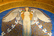 Mosaik im Hochzeitsturm, Mathildenhöhe, Jugendstil, Darmstadt, Hessen, Deutschland | Centre of Art Noveau on Mathildenhoehe, Darmstadt, Germany