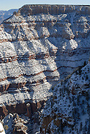USA, Arizona, Grand Canyon. Looking out from Mathes Point, winter scene.