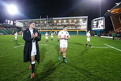 England U20 applaud the fans - Mandatory by-line: Robbie Stephenson/JMP - 15/03/2019 - RUGBY - Franklin's Gardens - Northampton, England - England U20 v Scotland U20 - Six Nations U20