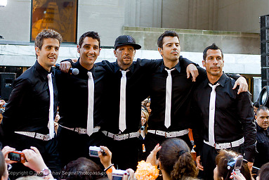 New Kids on the Block appear on The Today Show at Rockefeller Center on May 8,2009. New York, NY. .l-r  Joey McIntyre,Jonathan Knight, Donnie Wahlberg,  Jordan Knight and Danny Wood.Photo Credit ; Rahav Segev/Retna