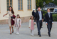 Stockholm , 09-09-2016<br /> <br /> Christening of Prince Alexander of Sweden, son of Prince Carl Philip and Princess Sofia at Drottningholm Palace.<br /> <br /> GUESTS<br /> <br /> <br /> Royalportraits Europe/Bernard Ruebsamen