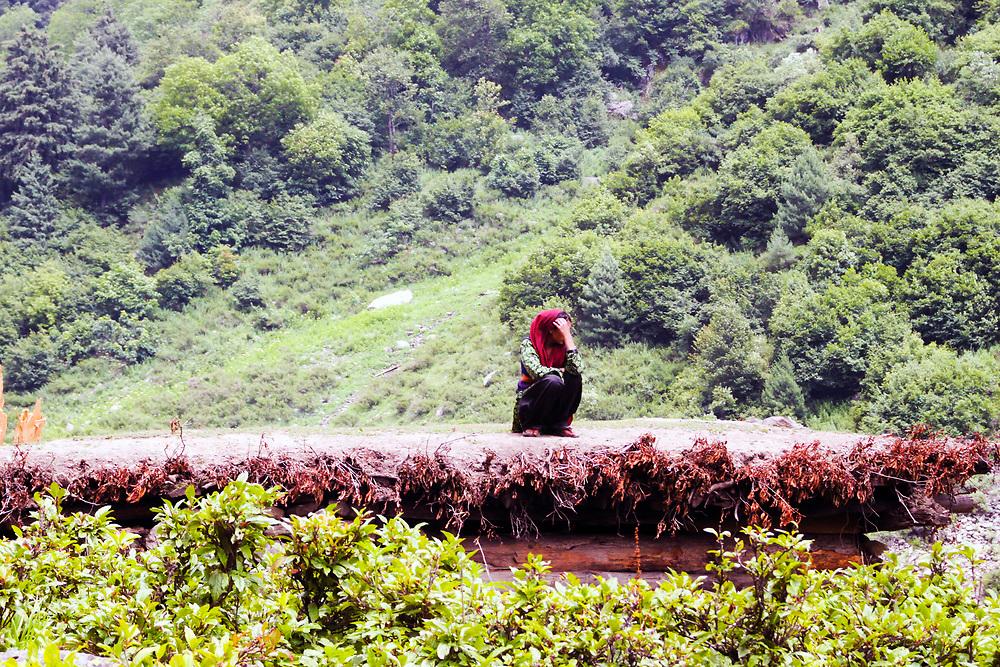 Naranag village, Kashmir Valley, Northern India 2009-07-11.<br />