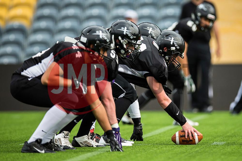 Kent Exiles - Mandatory by-line: Jason Brown/JMP - 27/08/2016 - AMERICAN FOOTBALL - Sixways Stadium - Worcester, England - Kent Exiles v East Kilbride Pirates - BAFA Britbowl Finals Day