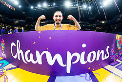 Jan Kropf celebrating at Trophy ceremony after  the Final basketball match between National Teams  Slovenia and Serbia at Day 18 of the FIBA EuroBasket 2017 when Slovenia became European Champions 2017, at Sinan Erdem Dome in Istanbul, Turkey on September 17, 2017. Photo by Vid Ponikvar / Sportida