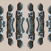Photographic series of digital computer art from an image of standing contempory Budda statues.<br /> <br /> Two or more layers were used to enhance, alter, manipulate the image, creating an abstract surrealistic mirrored symmetry.<br /> ________________<br /> <br /> Buddhism is many thing: a philosophy,  religion, faith system, a belief in, devotion.  It is also harmony, inspiration, inspire, inspiring, peaceful, serene and  blissful