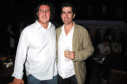 Left to right, Michelin starred chef CLAUDE BOSSI and SHANE OSBORNE Head chef at Pied-ö-Terre at a party to celebrate the 100th issue of Waitrose's Food Illustrated magazine held at The Physic Garden, Chelsea, London on 13th September 2007.<br />