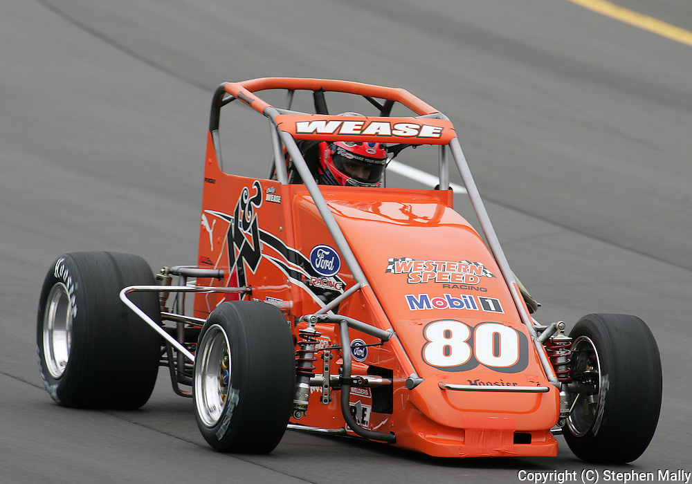 05 MAY 2007: Billy Wease (80) of K & N Racing practices in his midget car before the Casey's General Stores USAC Triple Crown at the Iowa Speedway in Newton, Iowa on May 5, 2007.