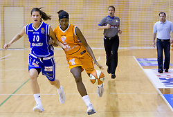 Kristina Verbole vs Aya Traore at finals match of Slovenian 1st Women league between KK Hit Kranjska Gora and ZKK Merkur Celje, on May 14, 2009, in Arena Vitranc, Kranjska Gora, Slovenia. Merkur Celje won the third time and became Slovenian National Champion. (Photo by Vid Ponikvar / Sportida)