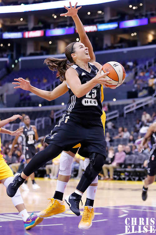 25 May 2014: San Antonio Stars guard Becky Hammon (25) goes for the layup during the Los Angeles Sparks 83-62 victory over the San Antonio Stars, at the Staples Center, Los Angeles, California, USA.