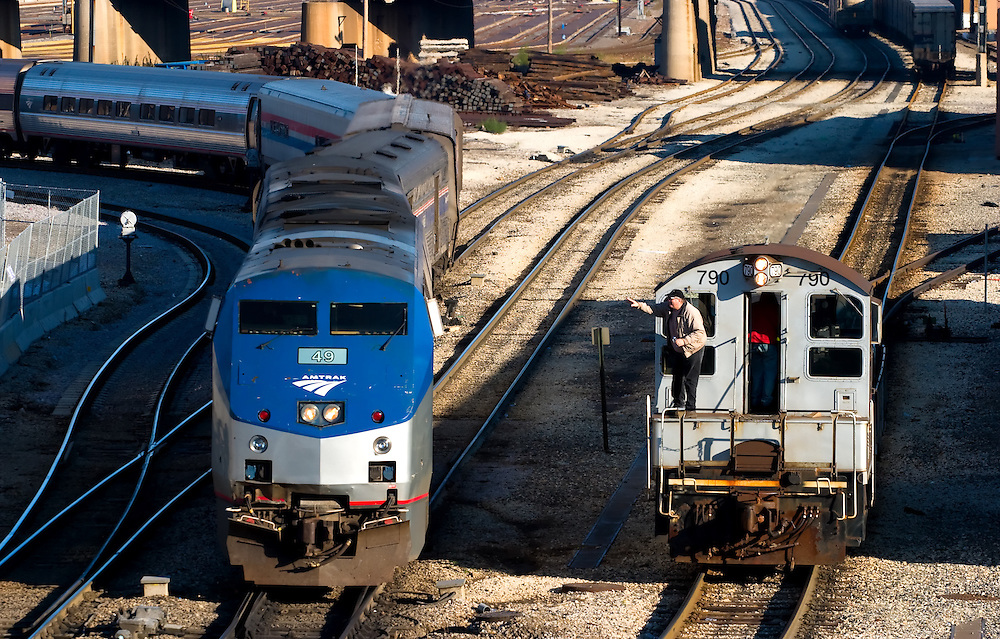 Amtrak Train Being Serviced in Chicago, IL. | Photography by Nick Suydam