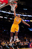 25 February 2011: Guard Shannon Brown of the Los Angeles Lakers dunks the ball against the Los Angeles Clippers during the second half of the Lakers 108-95 victory over the Clippers at the STAPLES Center in Los Angeles, CA.