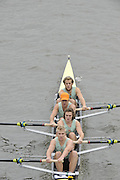 London, Great Britain,   Start No 45 CAMBRIDGE UNIV III. Elite 4+ approach the start at Mortlake, Photo from Chiswick Bridge.  Fullers,  Fours Head of the River Race, Championship Course, Mortlake to Putney, River Thames. Saturday   05/11/2011   [Mandatory Credit. Peter Spurrier/Intersport Images]