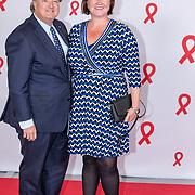 NLD/Amsterdam/20180516 - Koningspaar bij Red Ribbon Concert, Erwin van Lambaart en partner Plien