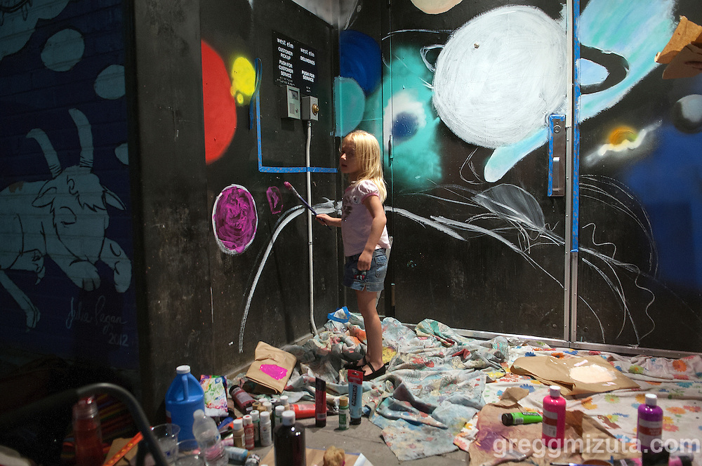 Freak Alley Gallery sixth annual mural event in downtown Boise, Idaho on August 8, 2016. <br /> <br /> The week long event provide an &quot;art-in-motion&quot; experience as it welcome the public to watch artists work on their murals.