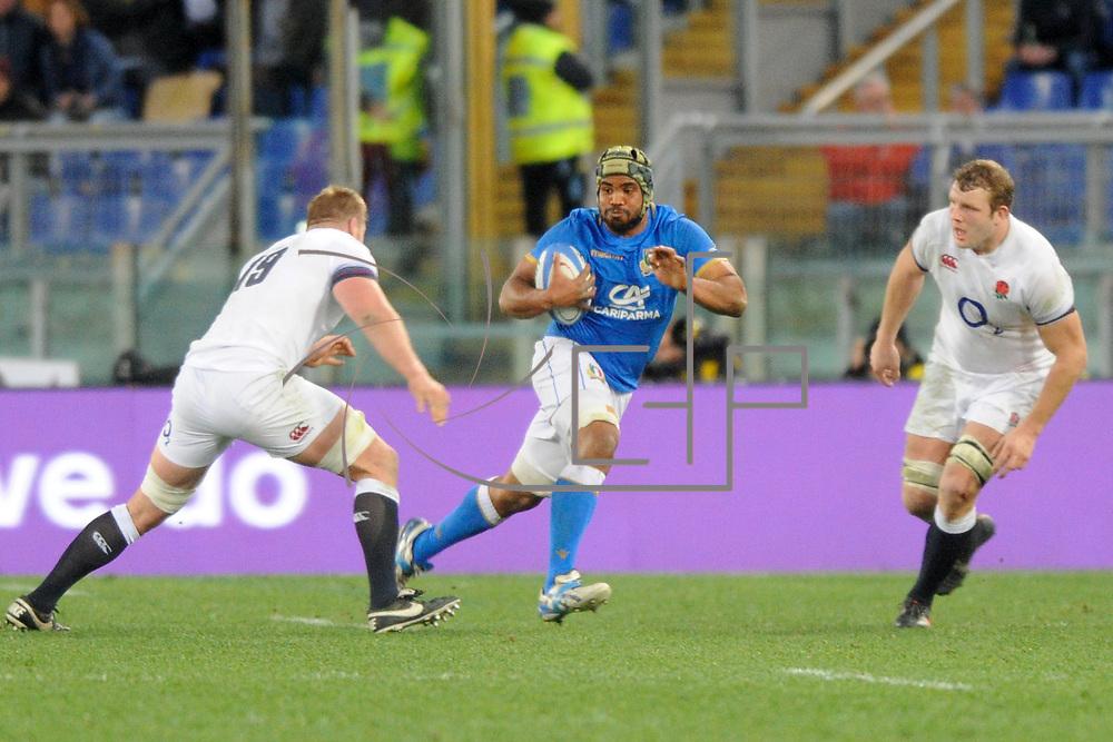 Roma 04/02/2018 Stadio Olimpico<br /> Natwest 6 nations Italia vs Inghilterra<br /> Maxime Mata Mbanda&rsquo;