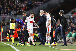 January 13, 2019 - Barcelona, Catalonia, Spain - FC Barcelona manager Ernesto Valverde during the match FC Barcelona against Eibar, for the round 19 of the Liga Santander, played at Camp Nou  on 13th January 2019 in Barcelona, Spain. (Credit Image: © Mikel Trigueros/NurPhoto via ZUMA Press)