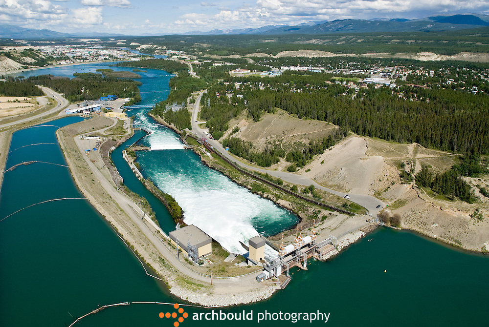 Yukon River dam in Whitehorse, Yukon.<br /> <br /> NOT IN YOUR BUDGET? Contact Cathie for a price specific to your project.