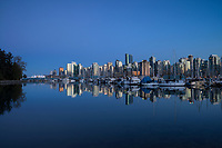 Downtown Vancouver Skyline Reflection from Stanley Park, Vancouver, B.C., Canada