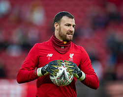 LIVERPOOL, ENGLAND - Sunday, January 5, 2020: Liverpool's goalkeeper Andy Lonergan during the pre-match warm-up before the FA Cup 3rd Round match between Liverpool FC and Everton FC, the 235th Merseyside Derby, at Anfield. (Pic by David Rawcliffe/Propaganda)