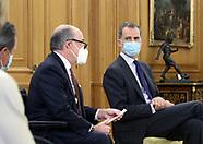 060920 King Felipe attends a meeting at Zarzuela Palace