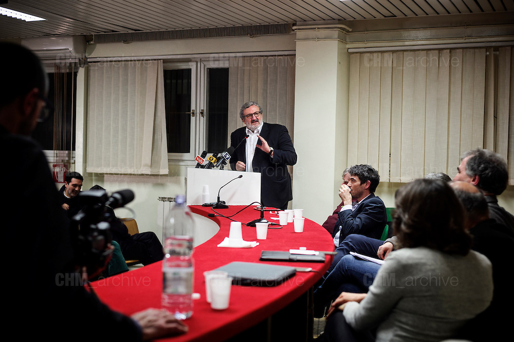 Michele Emiliano during a  conference on Democratic party and italian left wing. Rome 23 February 2017. Christian Mantuano / OneShot