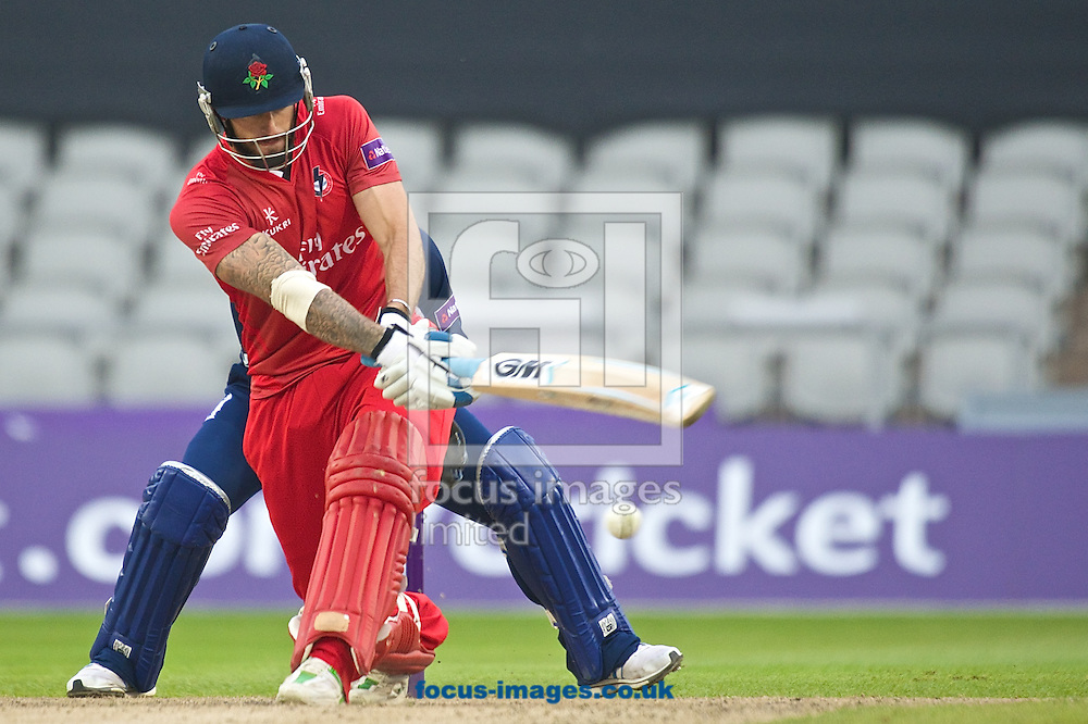 Jordan Clark of Lancashire Lightning during the Natwest T20 Blast match at Old Trafford Cricket Ground, Stretford<br /> Picture by Ian Wadkins/Focus Images Ltd +44 7877 568959<br /> 30/05/2014