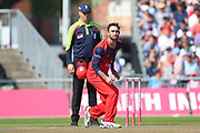 Lancashire Lightnings Glenn Maxwell  during the Vitality T20 Blast North Group match between Lancashire Lightning and Derbyshire Falcons at the Emirates, Old Trafford, Manchester, United Kingdom on 26 August 2019.