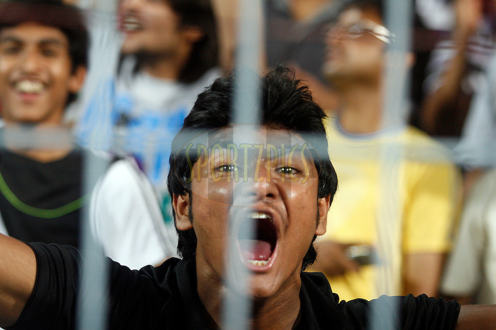 KKR supporter during match 70 of the Indian Premier League ( IPL ) between the Kolkata Knight Riders and the Mumbai Indians held at Eden Gardens Cricket Stadium in Kolkata, India on the 22nd May 2011..Photo by Vino John/BCCI/SPORTZPICS