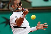 Roland Garros. Paris, France. June 1st  2008..Paul-Henri MATHIEU against Novak DJOKOVIC..Round of 16 (4th Round)...