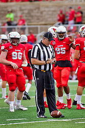 NORMAL, IL - October 06: Jim Scifres during a college football game between the ISU (Illinois State University) Redbirds and the Western Illinois Leathernecks on October 06 2018 at Hancock Stadium in Normal, IL. (Photo by Alan Look)
