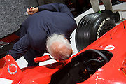 The 61. IAA (Internationale Autoausstellung) 2005 is one of the World's biggest trade fairs of the automotive industry..Close encounter with Schumi's Ferrari Formula 1 racing car.