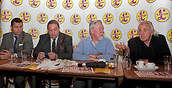 © Licensed to London News Pictures. 23/04/2012. London, U.K..(L-R) Steven Woolfe, London Assembly Candidate, David Coburn, London Chairman, UKIP, Richard Earl of Bradford Ukip Candidate, and Peter Strigfellow. UKIP Press Conference with Richard, Earl of Bradford and Mr Peter Stringfellow. Following his announcement that after 32 years of supporting the Conservative Party, Peter Stringfellow is supporting Ukip candidate Richard Bradford in the Hyde Park by election. The press conference was held at Porters Restaurant owned by Richard the Earl of Bradford..Photo credit : Rich Bowen/LNP