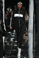 Leila Nda walks the runway wearing PUMA x FENTY by Rihanna Fall 2016 during New York Fashion Week on February 12, 2016