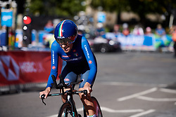 Camilla Alessio (ITA) at UCI Road World Championships 2019 Junior Women's TT a 13.7 km individual time trial in Harrogate, United Kingdom on September 23, 2019. Photo by Sean Robinson/velofocus.com