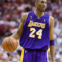 09 June 2009: Kobe Bryant of the Los Angeles Lakers dribbles during game 3 of the 2009 NBA Finals won 108-104 by the Orlando Magic over the Los Angeles Lakers at Amway Arena, in Orlando, Florida, USA.