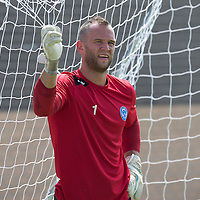 St Johnstone keepr Alan Mannus pictured in training...08.07.13<br /> Picture by Graeme Hart.<br /> Copyright Perthshire Picture Agency<br /> Tel: 01738 623350  Mobile: 07990 594431