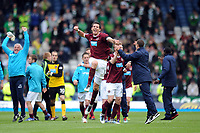 Football - Scottish Cup Semi-Final - Celtic vs. Heart of Midlothian<br /> Ryan McGowan (Hearts) celebrates at the end of the game at Hampden Park.