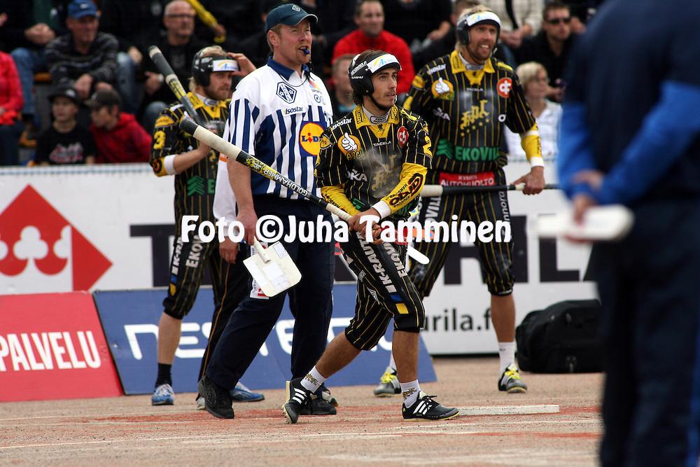 05.09.2009, Kouvola..Superpesis 2009, 1. loppuottelu.Kouvolan Pallonly?j?t - Sotkamon Jymy.Saku Kapanen - KPL.©Juha Tamminen.