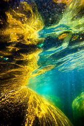 """Boulders Under Lake Tahoe 3"" - Underwater photograph taken while swimming near Secret Cove, Lake Tahoe."