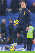 Aston Villa assistant manager, John Terry instructs his team during the Premier League match between Chelsea and Aston Villa at Stamford Bridge, London, England on 4 December 2019.