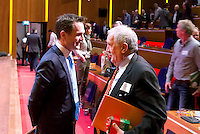 UTRECHT - Guido Davido met Ruud Verbunt. Hockeycongres bij de Rabobank in Utrecht. FOTO KOEN SUYK