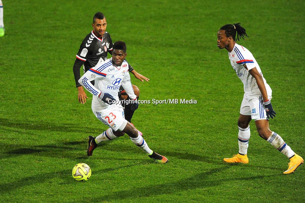 Samuel UMTITI  - 04.12.2014 - Lyon / Reims - 16eme journee de Ligue 1  <br /> Photo : Jean Paul Thomas / Icon Sport