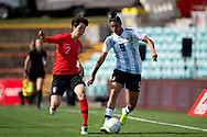 SYDNEY, NSW - FEBRUARY 28: Argentina player Florencia Jaimes (9) controls the ball at The Cup of Nations womens soccer match between Argentina and Korea Republic on February 28, 2019 at Leichhardt Oval, NSW. (Photo by Speed Media/Icon Sportswire)